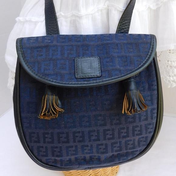 8bc5faf4507 Fendi Bags   Vintage Navy Blue Monogram Canvas Crossbody   Poshmark